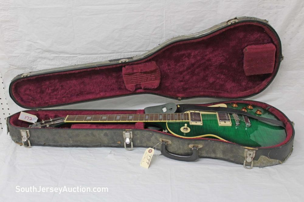 2003 epiphone les paul in the tiger maple green limited edi. Black Bedroom Furniture Sets. Home Design Ideas