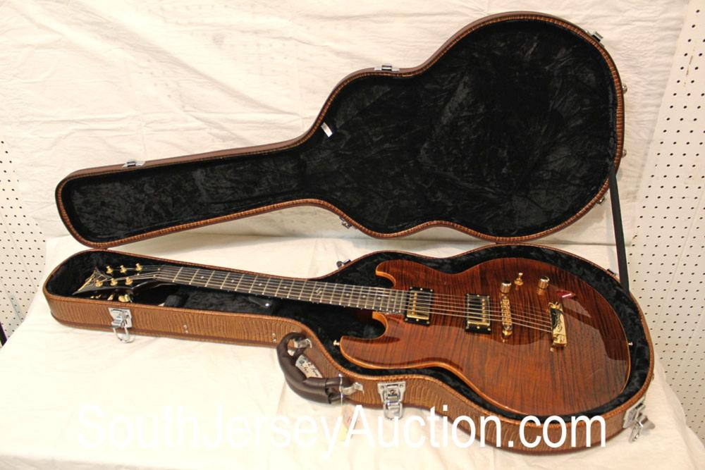 2010 DBZ Imperial 'Super Thin', gold hardware and ebony fretboard, molded hard shell case, with case key, s/n W10C0407, with strap, very good condition
