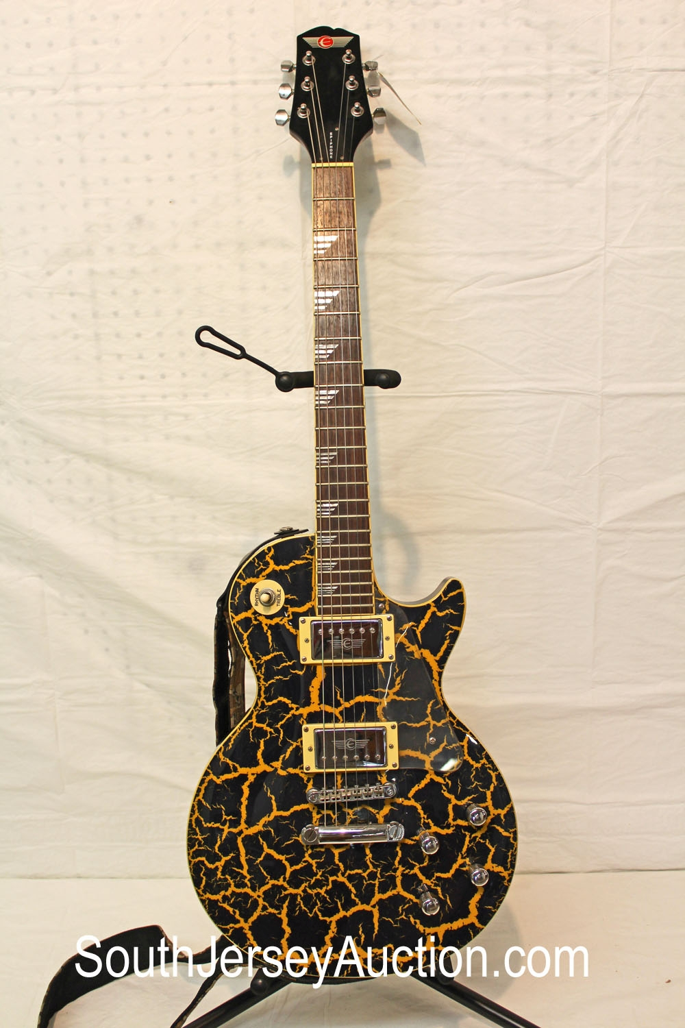 2001 Epiphone Nuclear Extreme Crackle Finish, Custom Shop Limited Edition, made in Korea, shark inlays, s/n 0106568,  in good condition