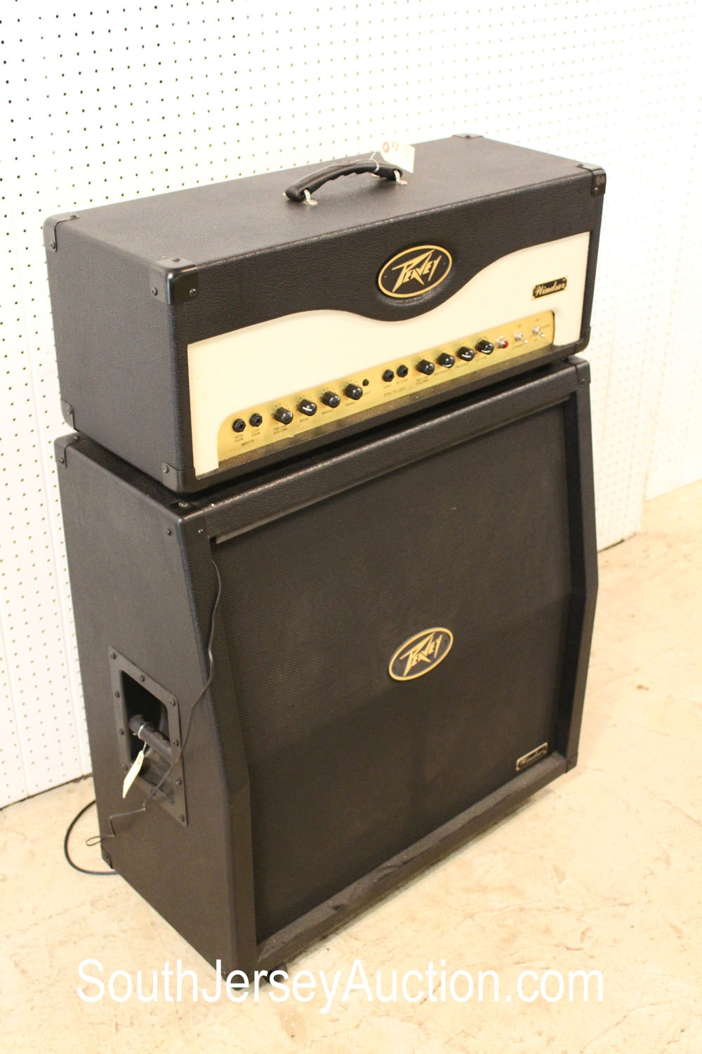 Pevey Windsor Half Stack Tube Amp circa 1980's, good condition, working, (this is a 2 piece lot with matching cabinet and head)  measuring soon