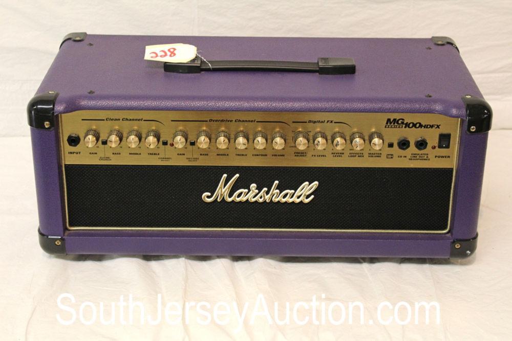 Marshall 100 watt head transistor in hard to find purple tolex amplifier