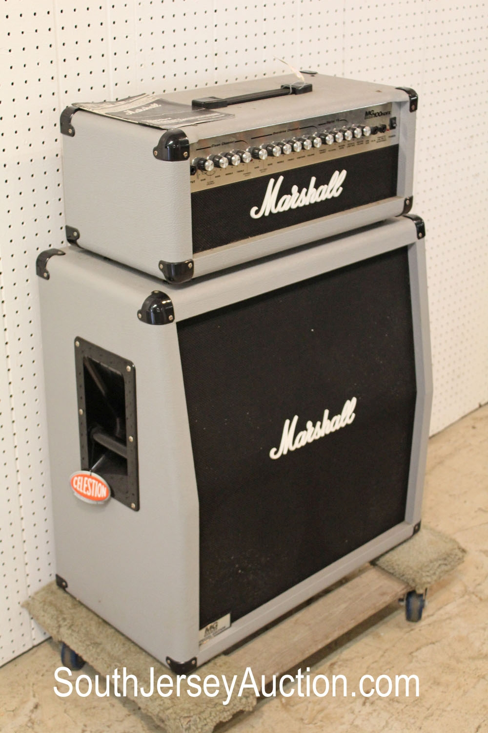 Marshall Transistor MG Series 100 HDFX Half Stack in the silver jubilee color Amplifier (2 piece lot)