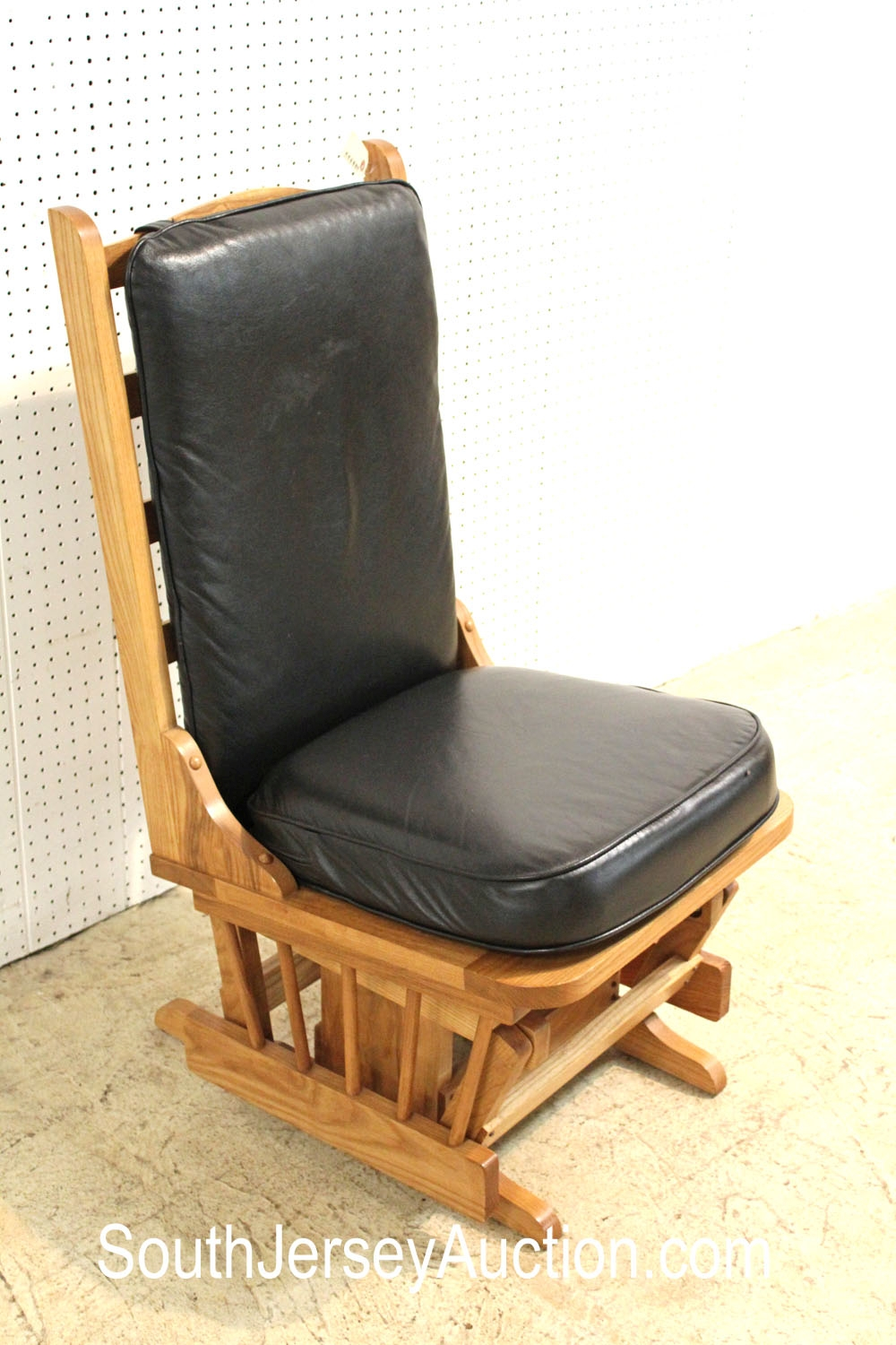 Pick-N-Glider Guitar Players Chair, with Leather Black Padding, made in North Carolina