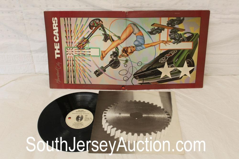 Vintage The Cars album Heartbeat City with original album paper in a  display frame, in good condition