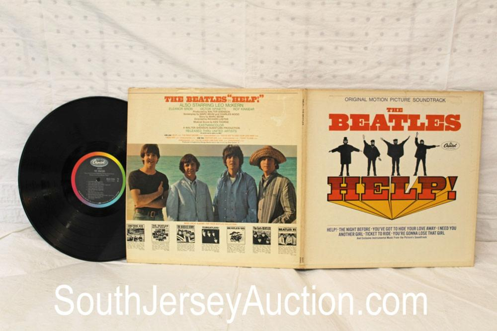 Vintage Original Motion Picture Sound Track, The Beatles - Help! In original sleeve, in a display frame, in good condition