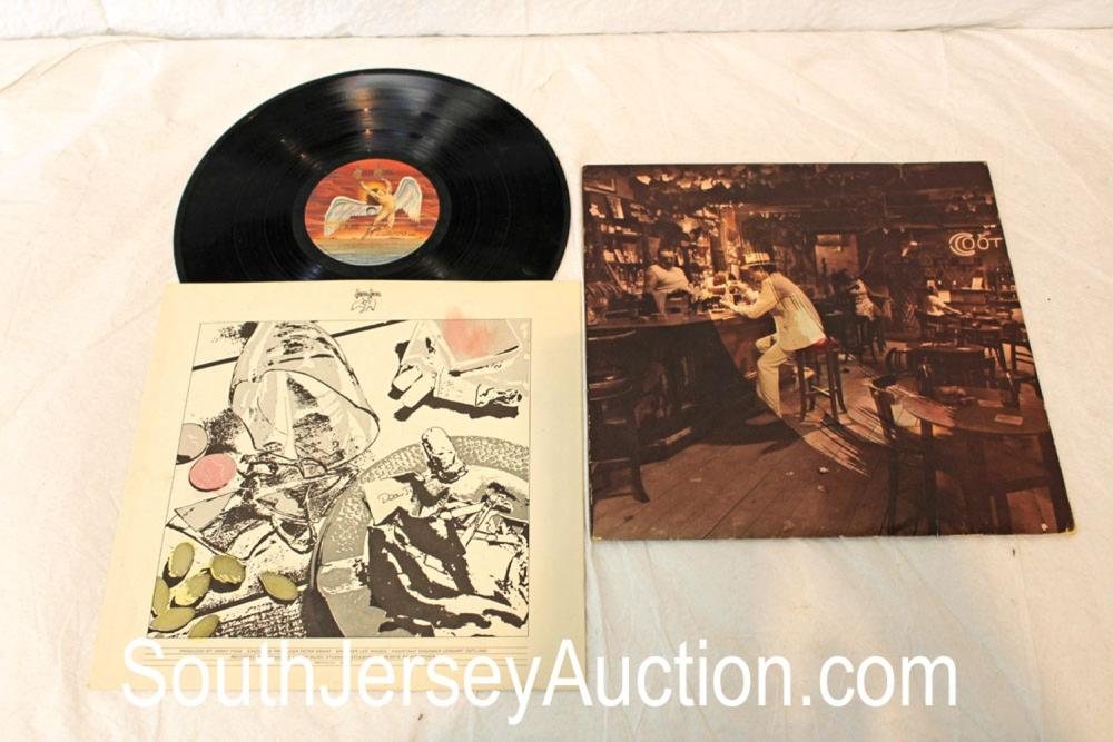 Vintage Led Zeppelin Swan Song album in original sleeve, in a display frame, in good condition