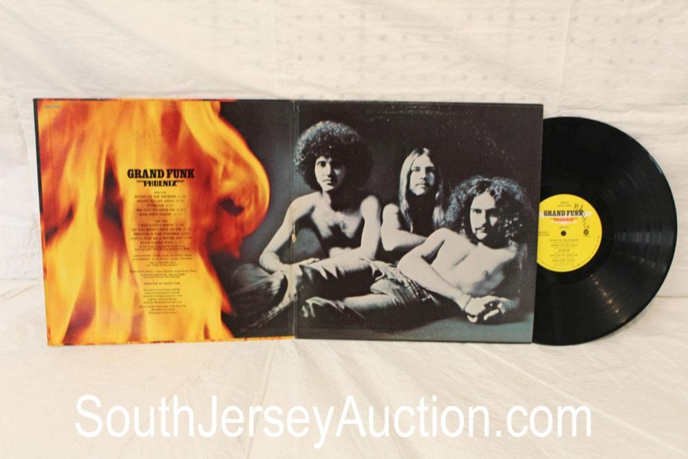 Vintage Grand Funk Phoenix album in original sleeve in a display frame