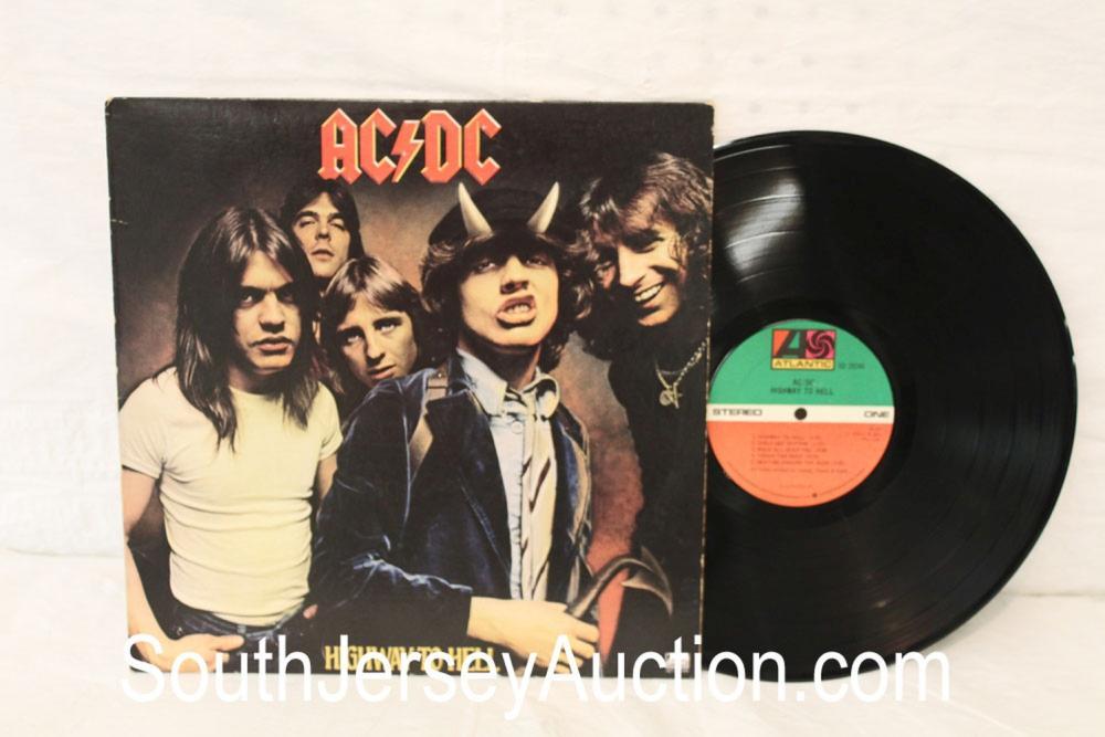 Vintage AC/DC Highway to Hell album in original sleeve in display frame