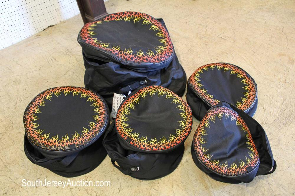 Brand New 5 drum bags by Grafix Kaces-3, condition good
