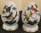 Pair of Herend Hungary Famous Rothschild Birds Salt and Pepper Shakers
