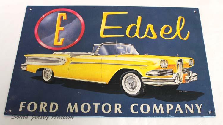 Edsel Ford Motor Company Metal Advertisement Sign