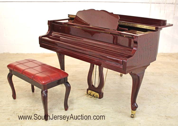 Absolutely beautiful nice size maeari burl mahogany baby gra for Size of baby grand piano