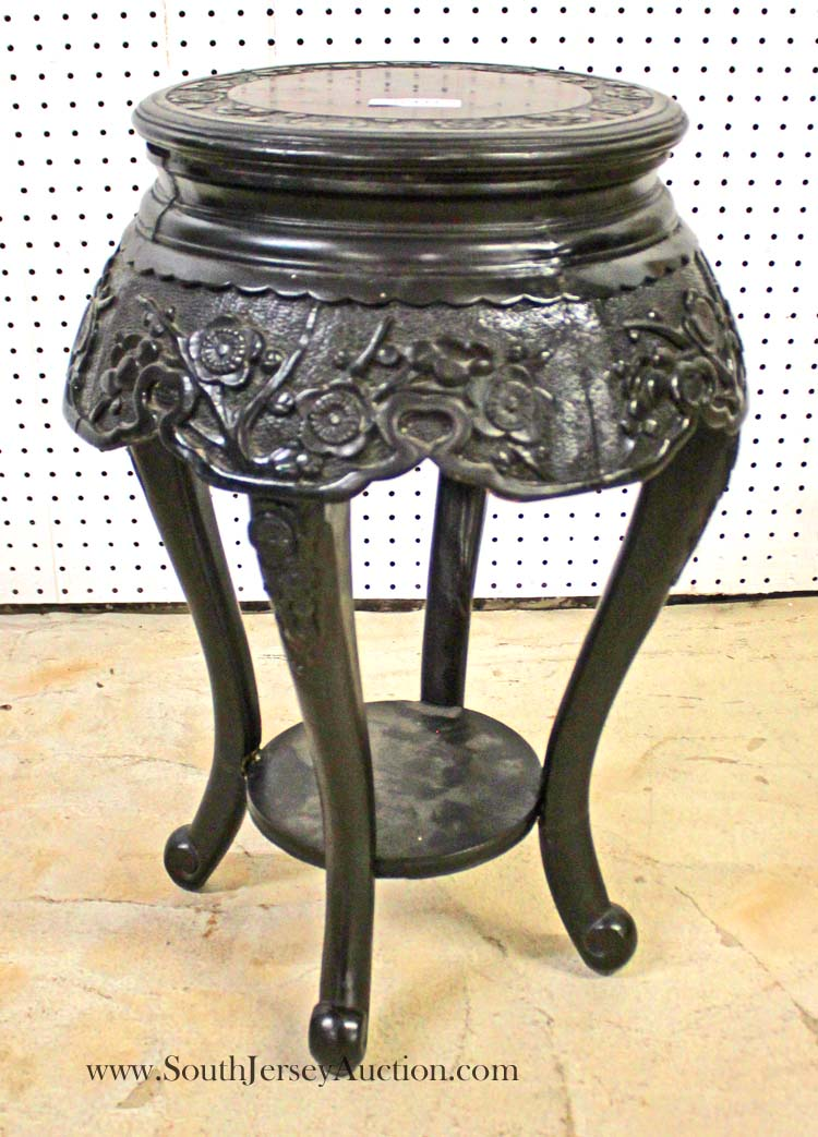 Early 20th century asian hardwood plant stand for Oriental furniture nj