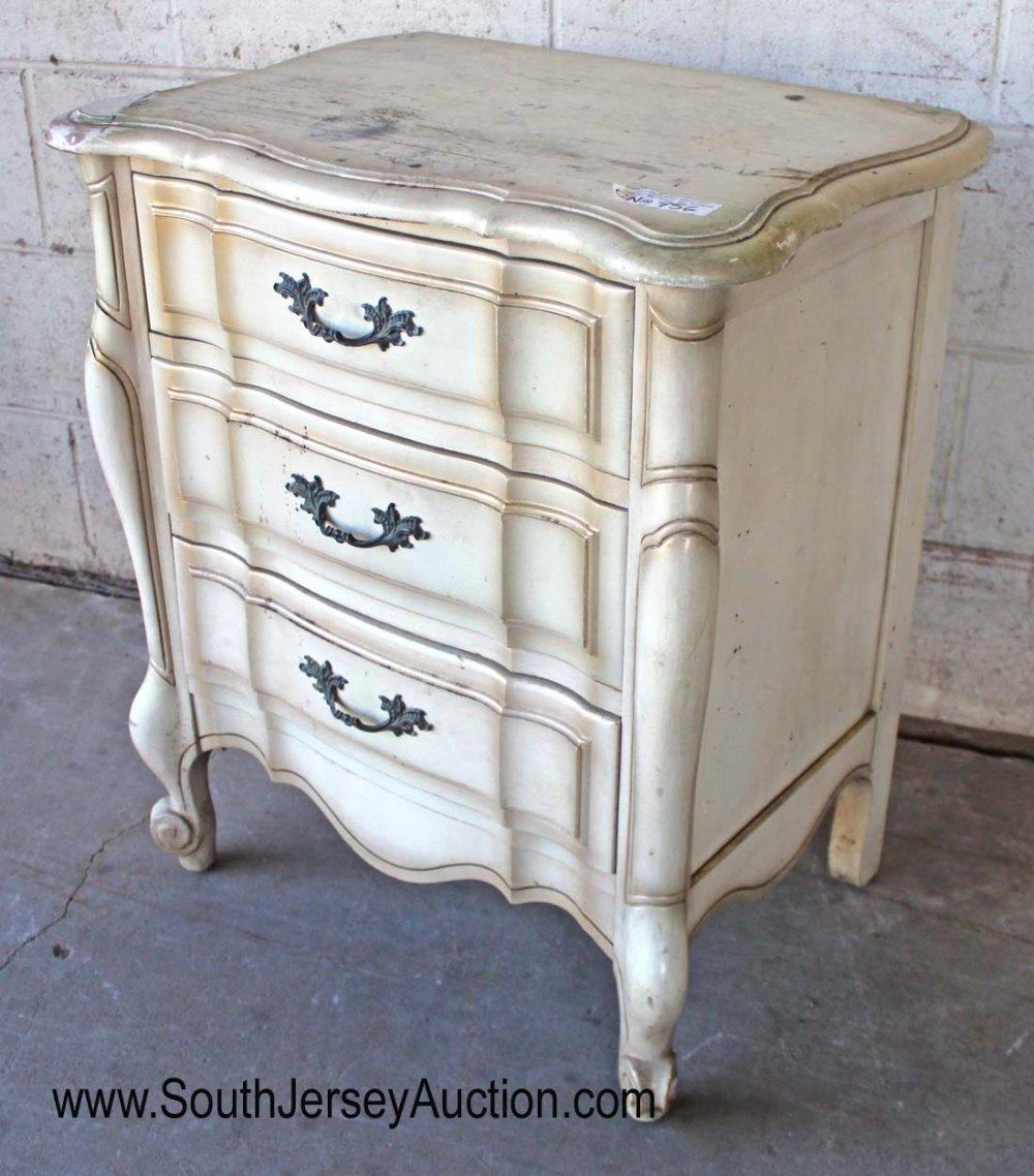 French Provincial 3 Drawer Night Stand
