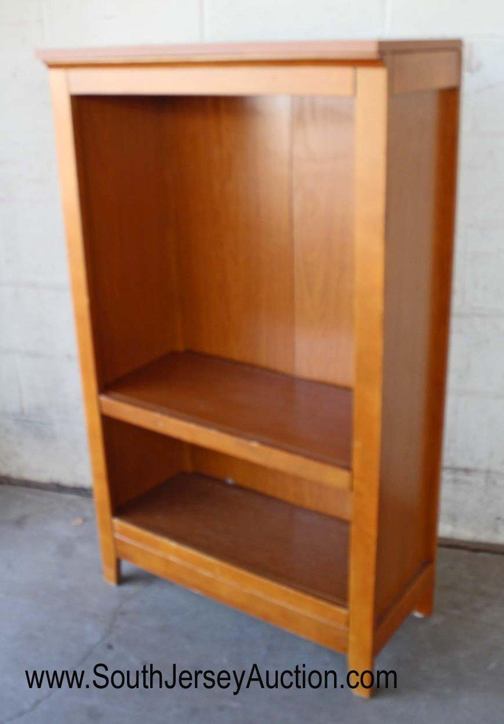Contemporary Open Front Bookcase in the Maple Finish with Shelves