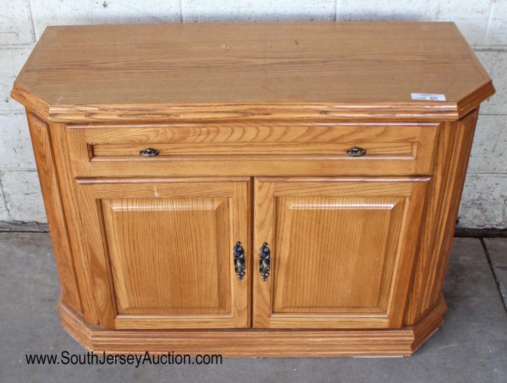 Contemporary Oak 2 Door 1 Drawer Server