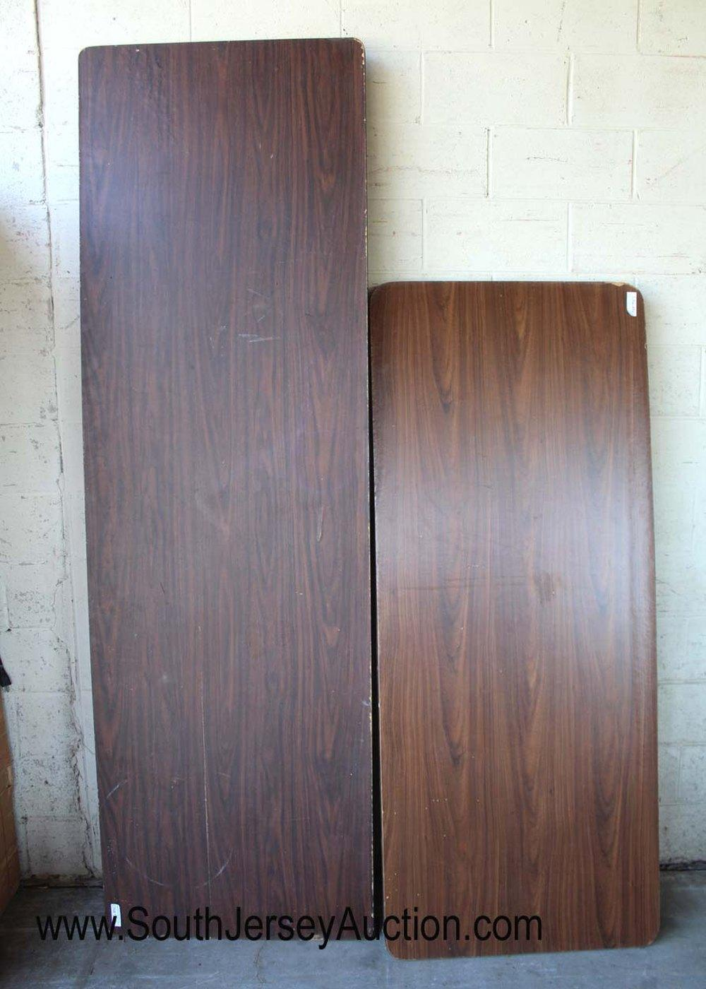 Group of 2 Folding Tables with Formica Tops (1)8 Foot and (1)6 Foot