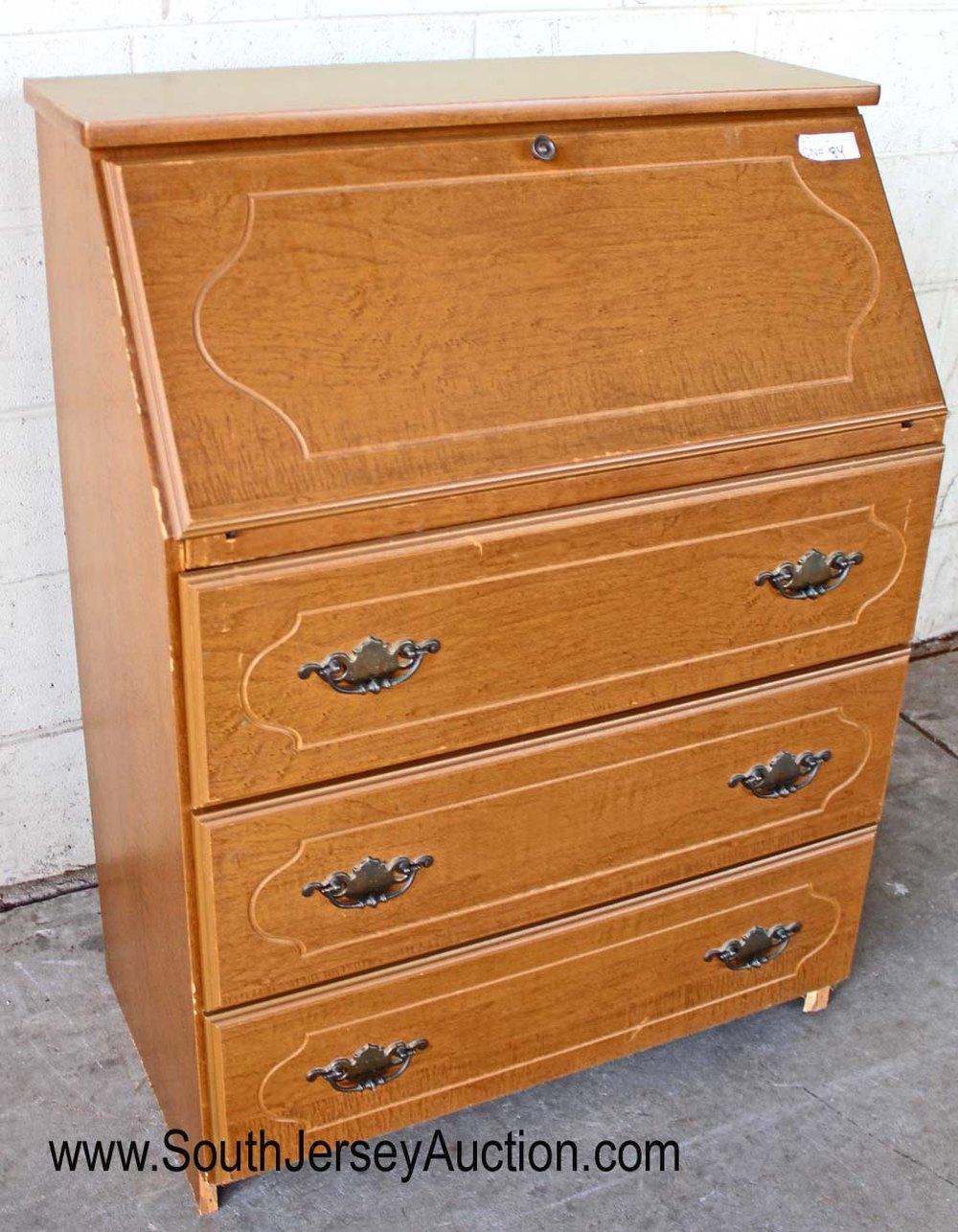 Contemporary Maple Slant Front Desk