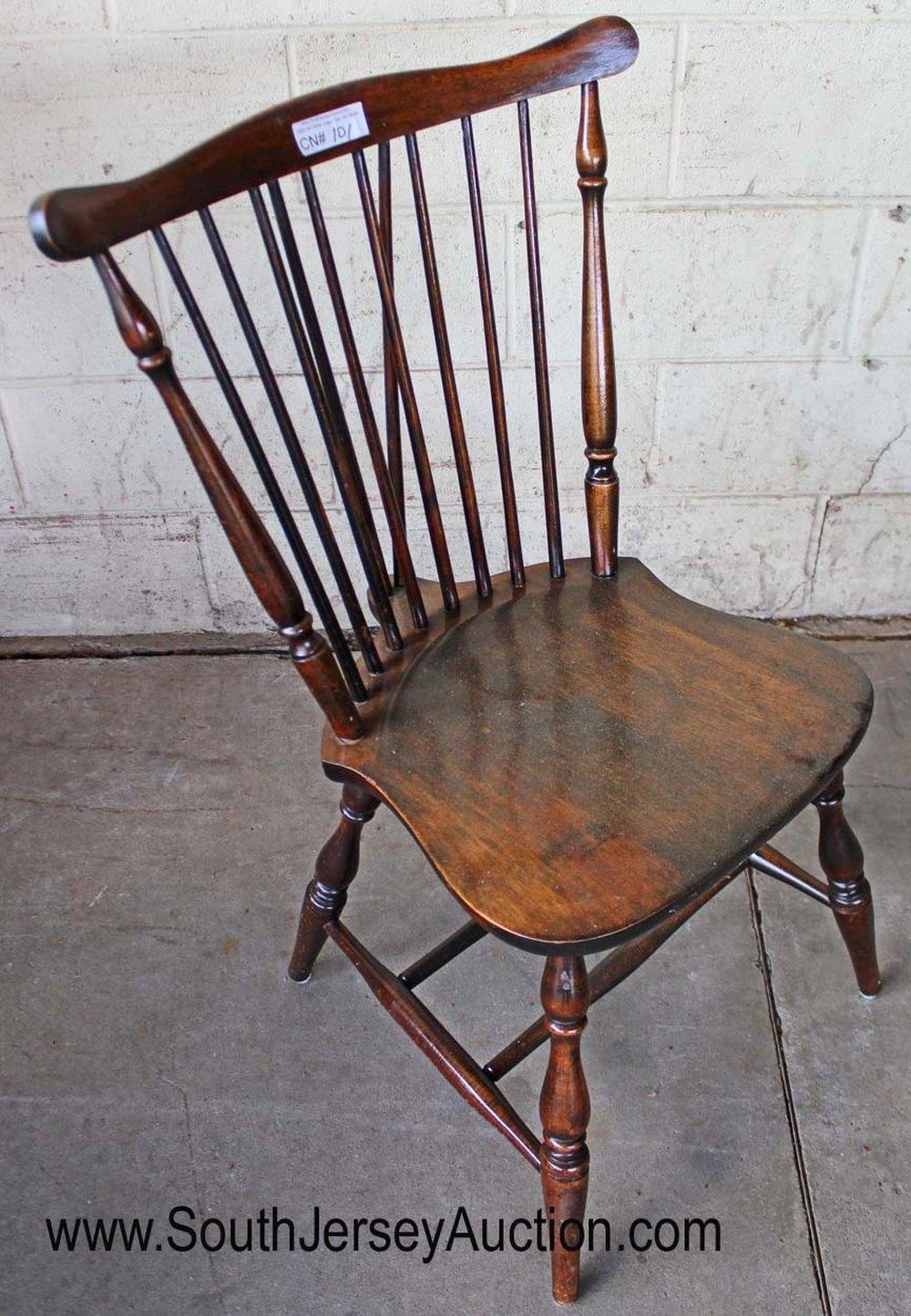 Windsor Style Solid Mahogany Chair
