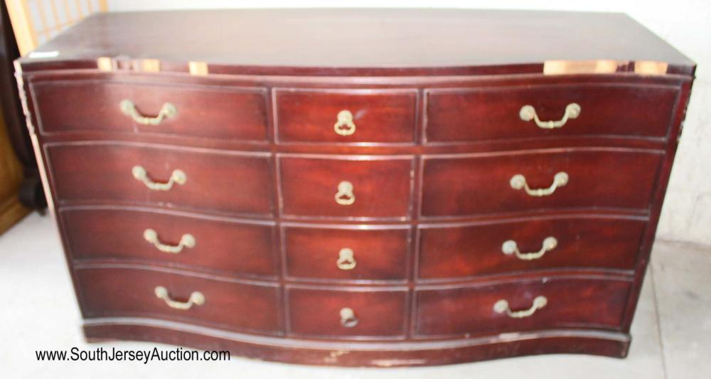 Mahogany Serpentine Front Low Chest