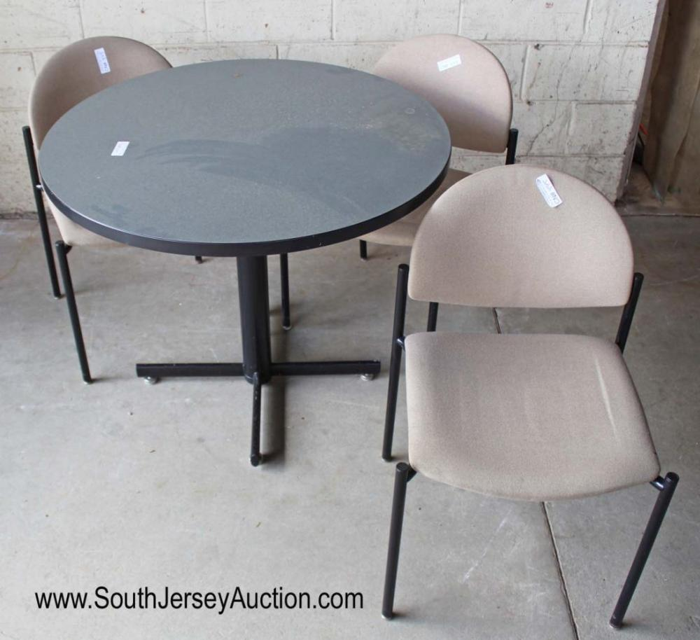 4 Piece Modern Kitchen Table with 3 Chairs