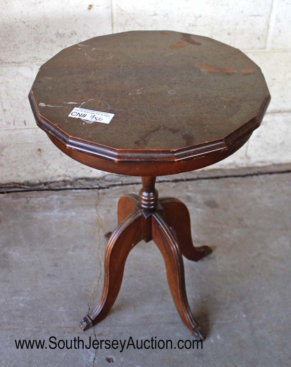 Mahogany Round Lamp Table