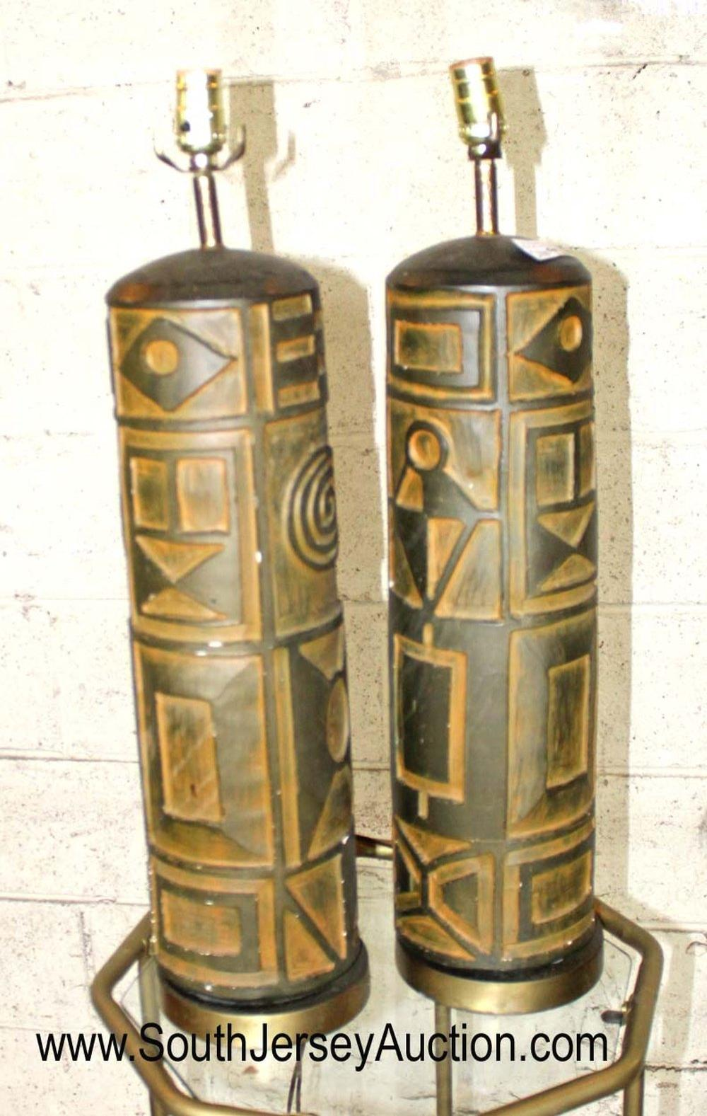 Pair of Vintage Mid Century Modern Lamps
