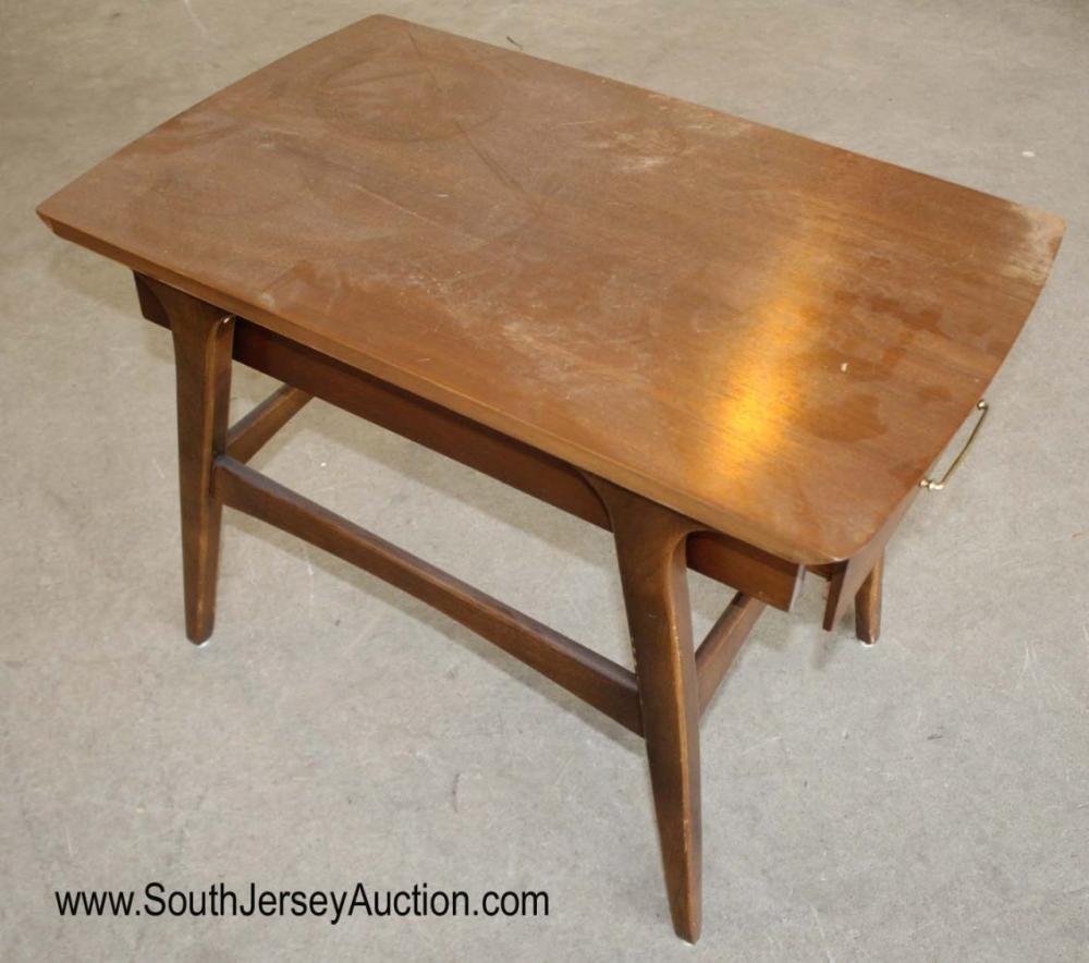 NICE Vintage Mid Century Modern Danish Walnut 1 Drawer Stand