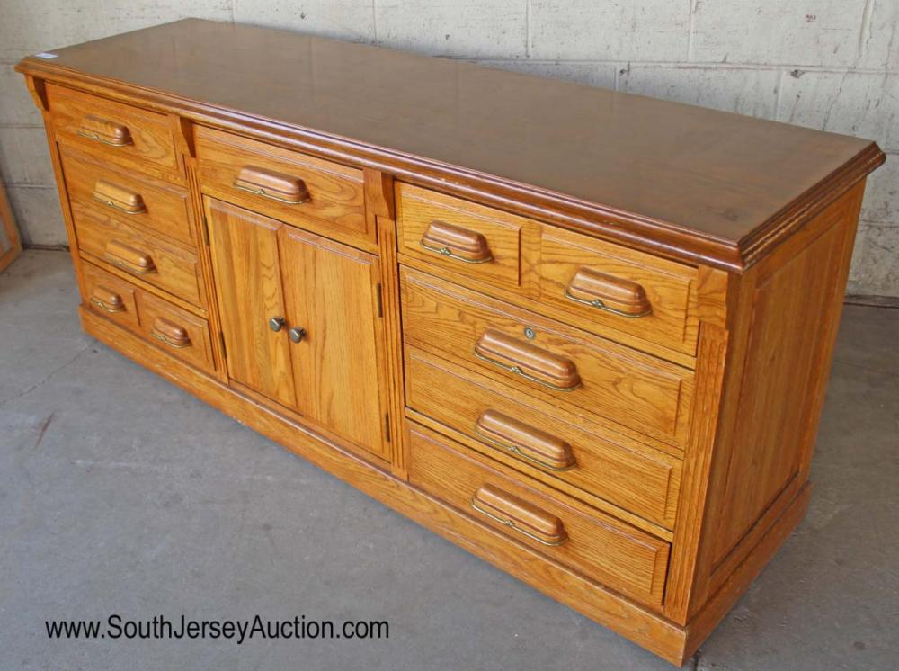 Contemporary Oak Low Dresser by Mount Airy Furniture