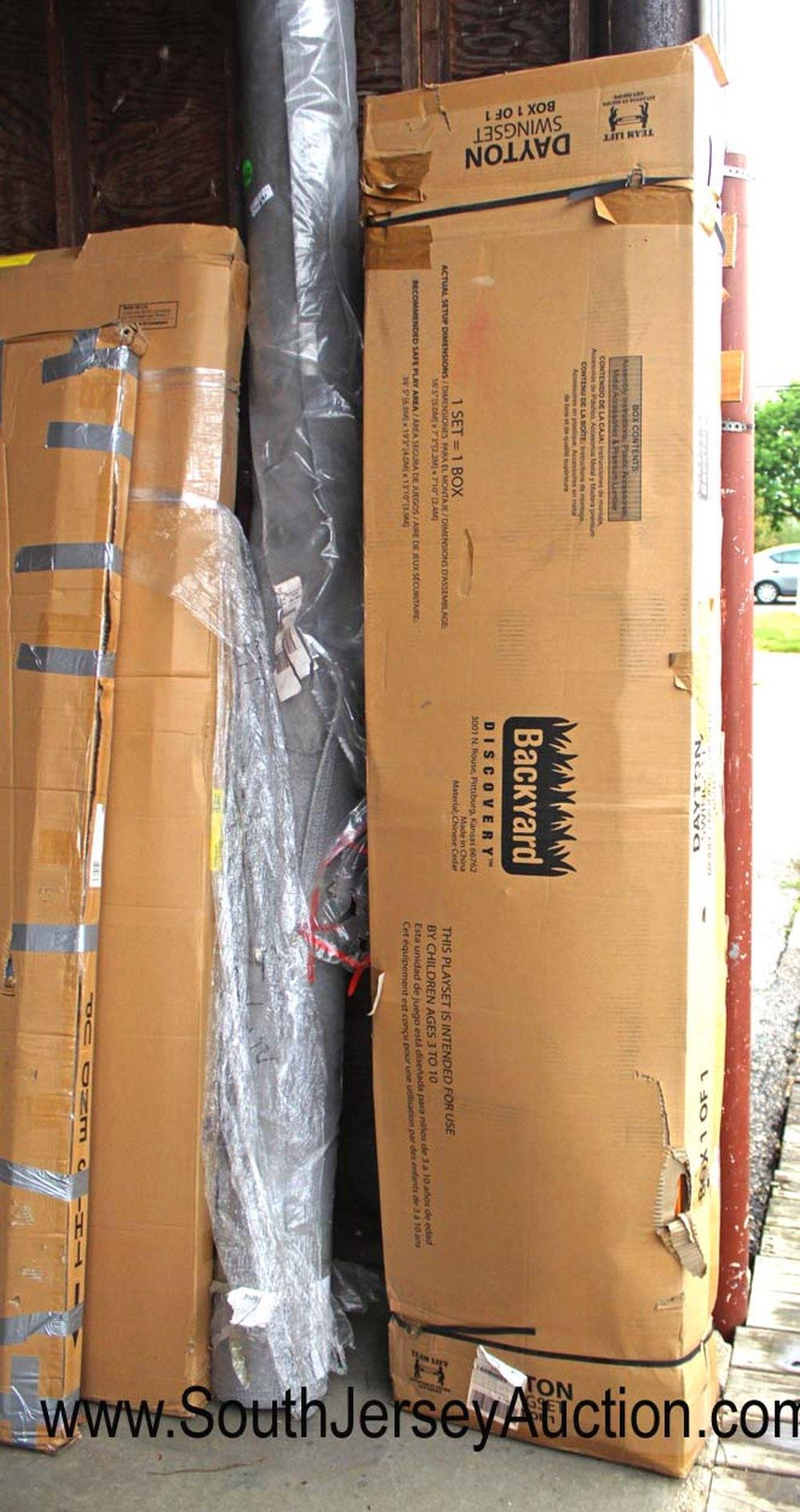 New Backyard Dayton Swing Set - In Box on Pallet Model #65014 - No Guarantee of all Parts or Damage
