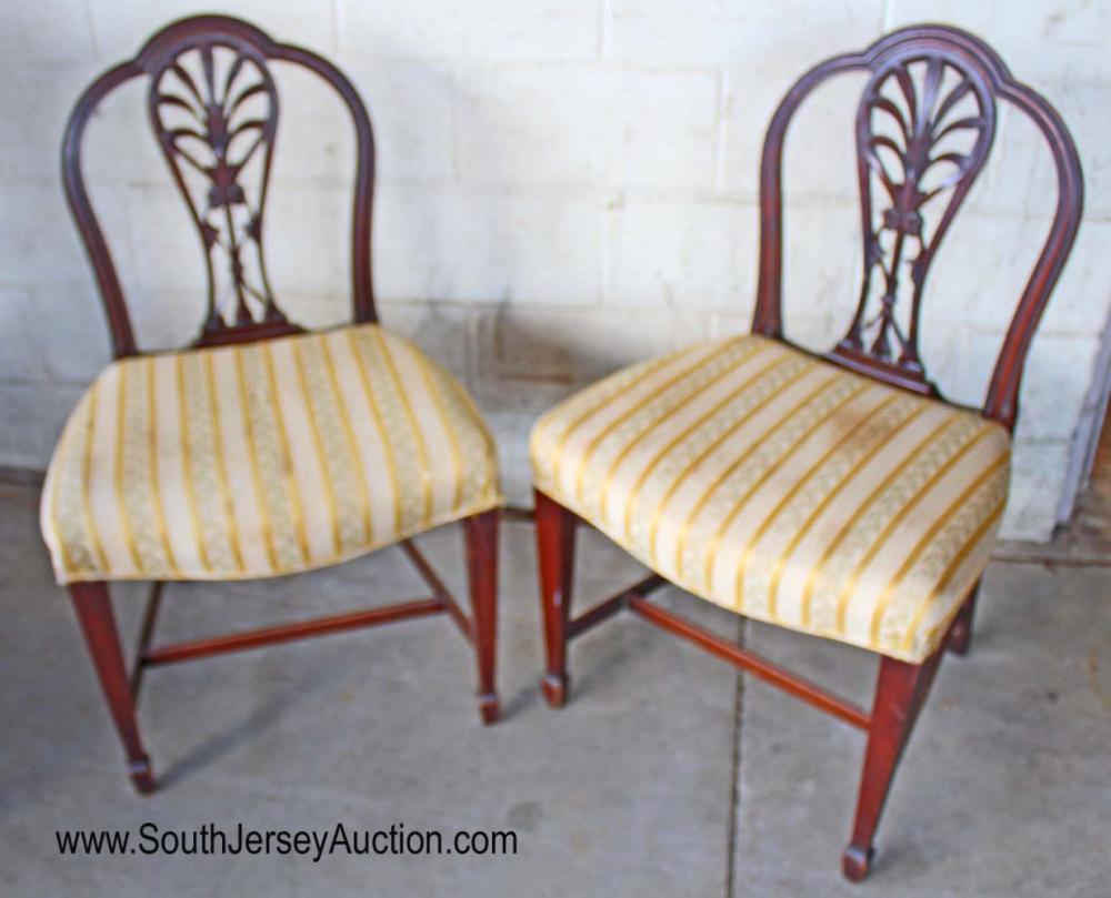 Pair of Mahogany Frame Side Chairs