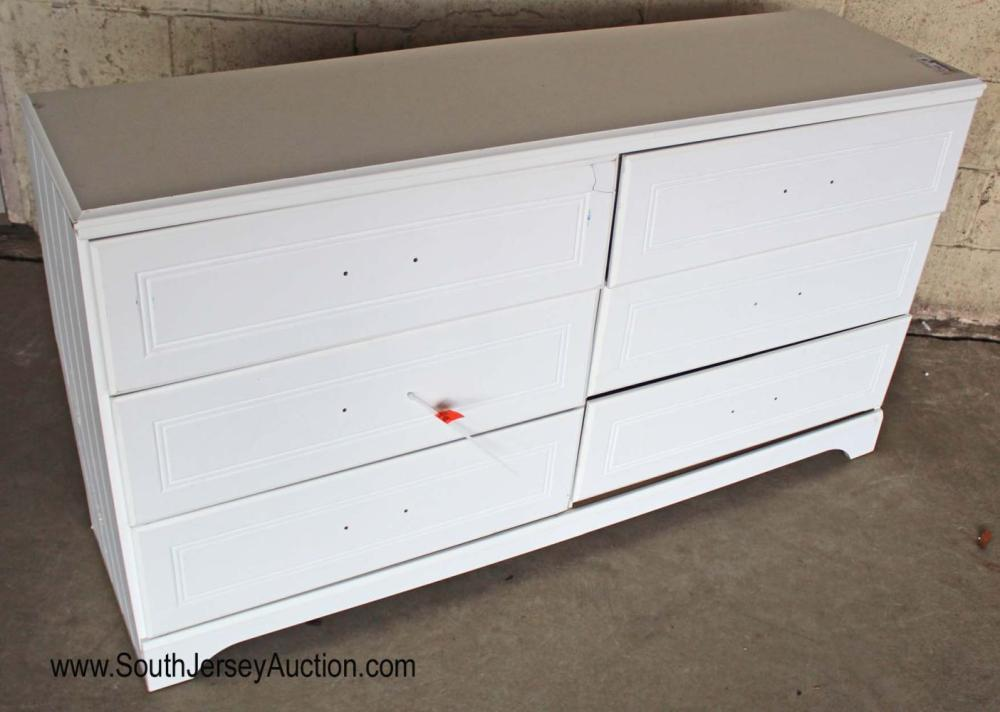 6 Drawer White Dresser by Signature - As Is
