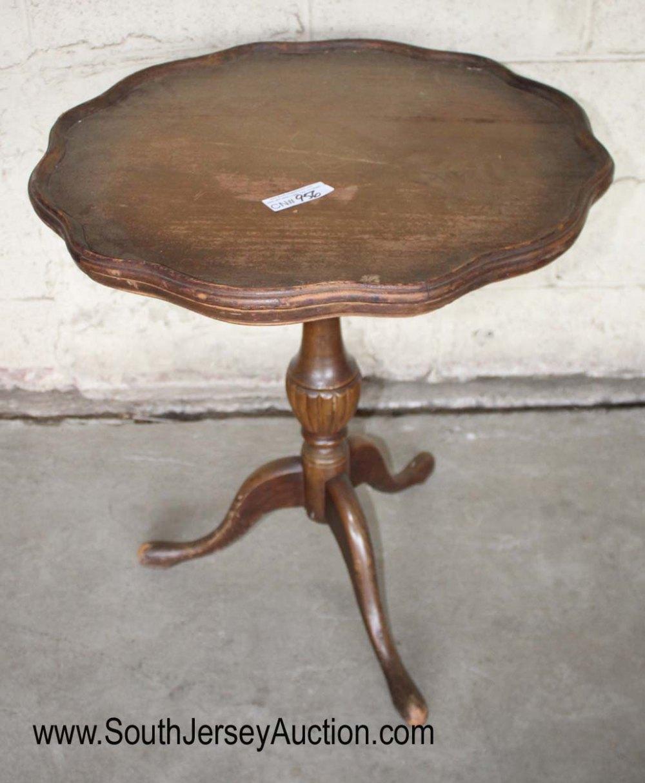 Vintage Mahogany Pie Crust Table