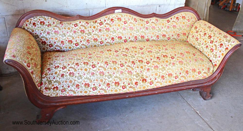 Antique Victorian Sofa in the Walnut Frame