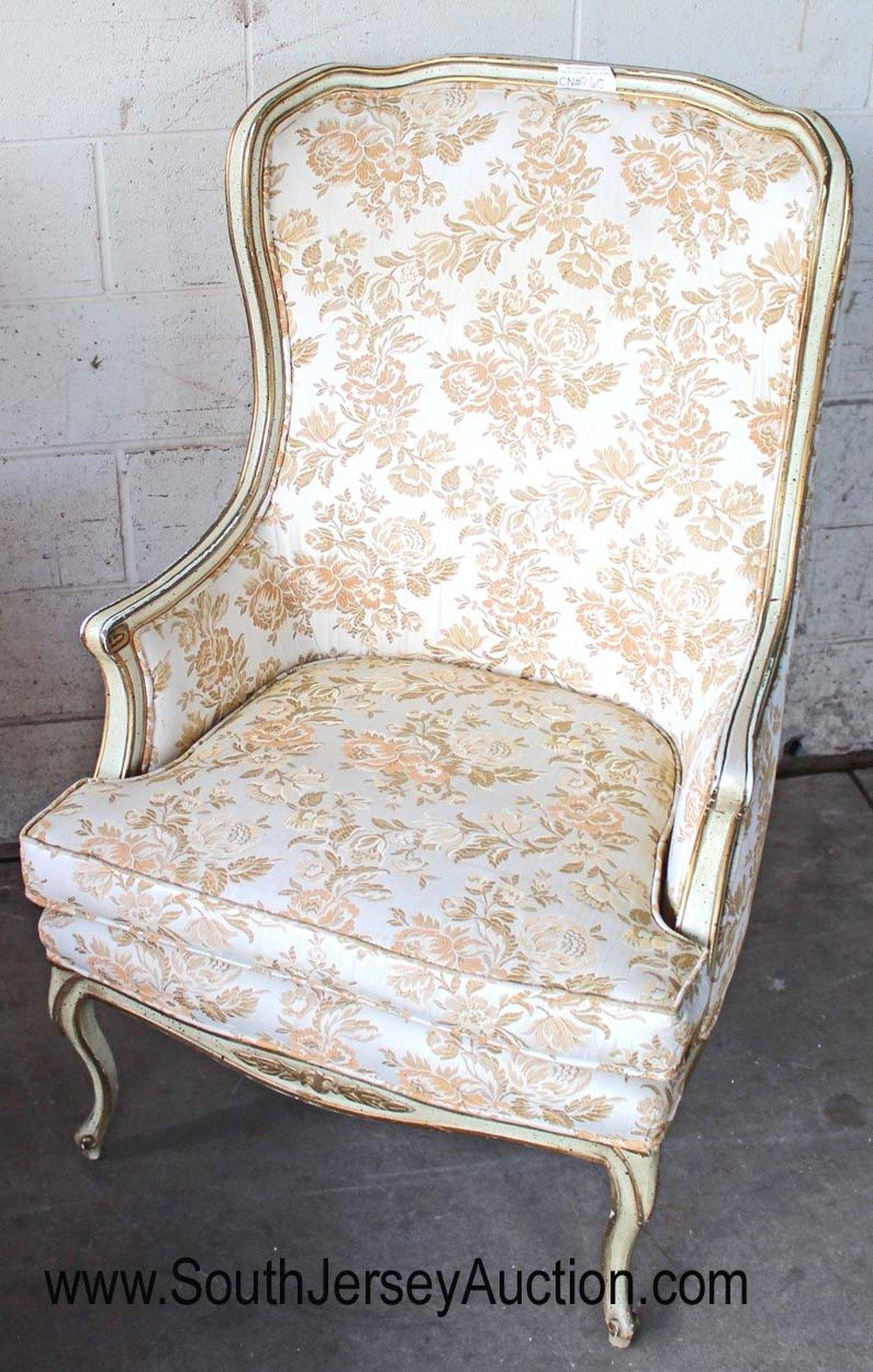 French Style Vintage Wing Chair