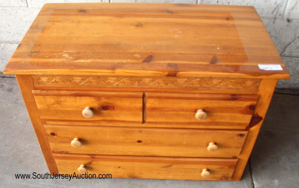 Knotty Pine Country Style Low Chest