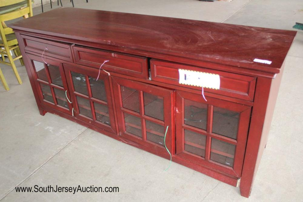 New Red Entertainment Cabinet - As Is