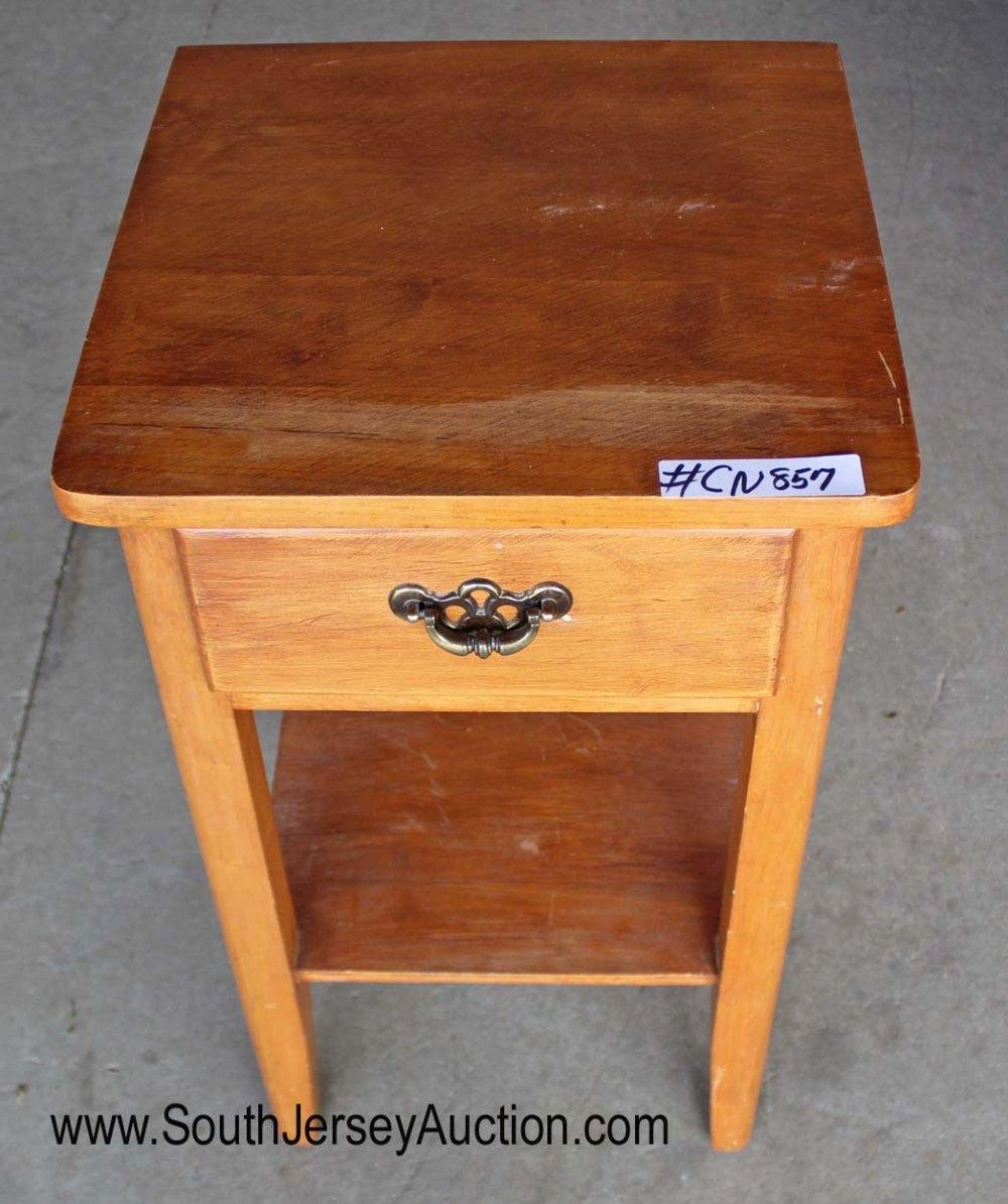 Maple one drawer bedside stand