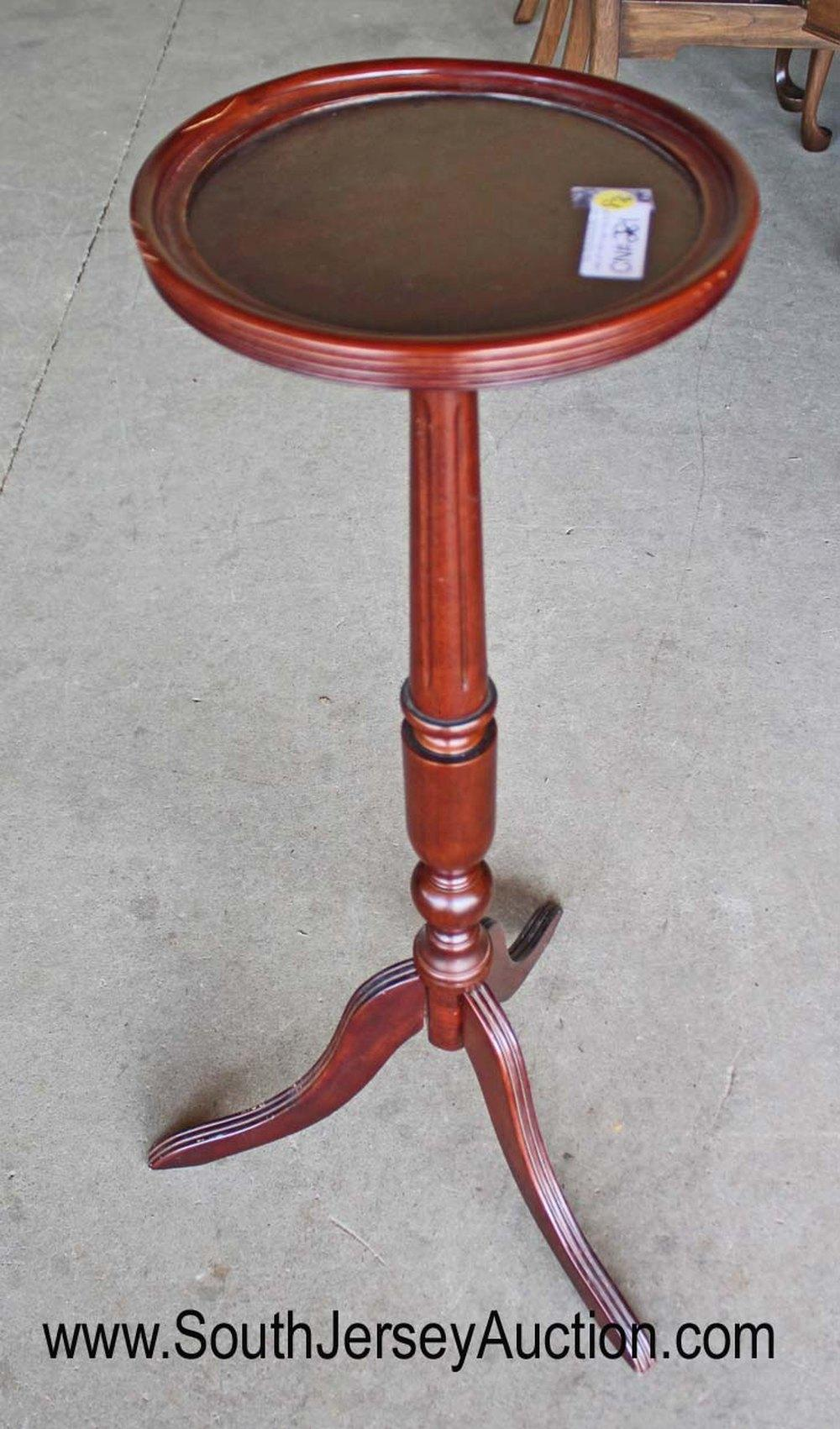 Antique style mahogany candle stand by Bombay Furniture