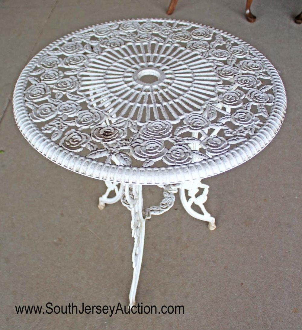 Vintage cast iron aluminum bistro table