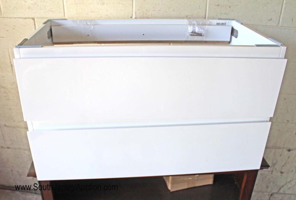 "Modern Design 36"" Floating 2 Drawer Bathroom Vanity"