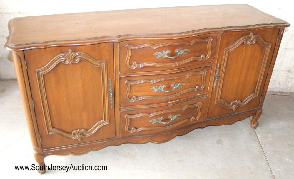 French Provincial Style Walnut Buffet