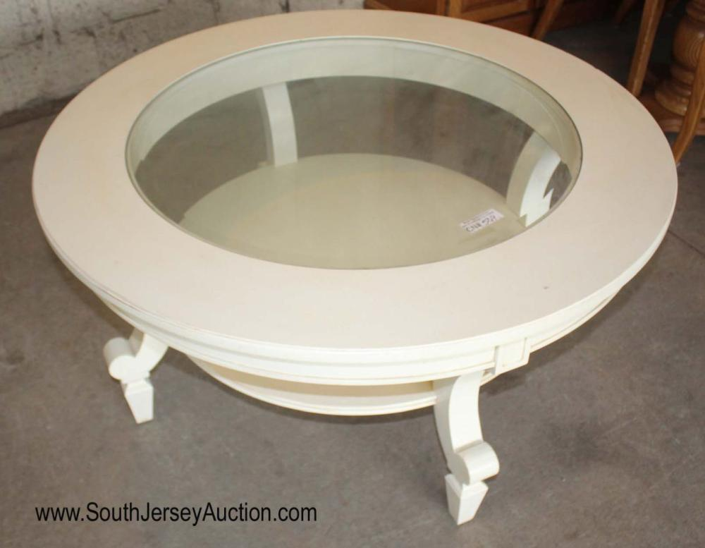 """42"""" Diameter Glass Top Decorator Coffee Table by Stanley Furniture"""
