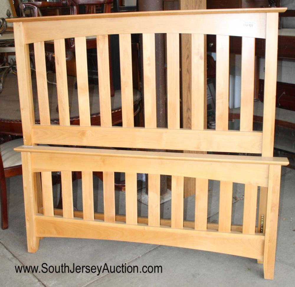 Maple Mission Style Full Size Bed with Rails