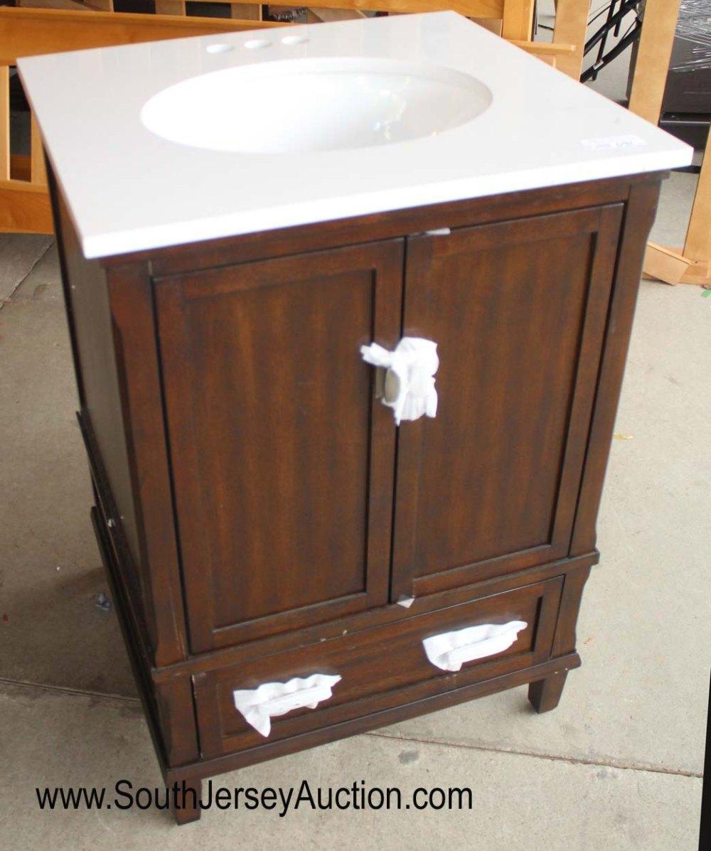 """New 24"""" Marble Top Bathroom Vanity"""