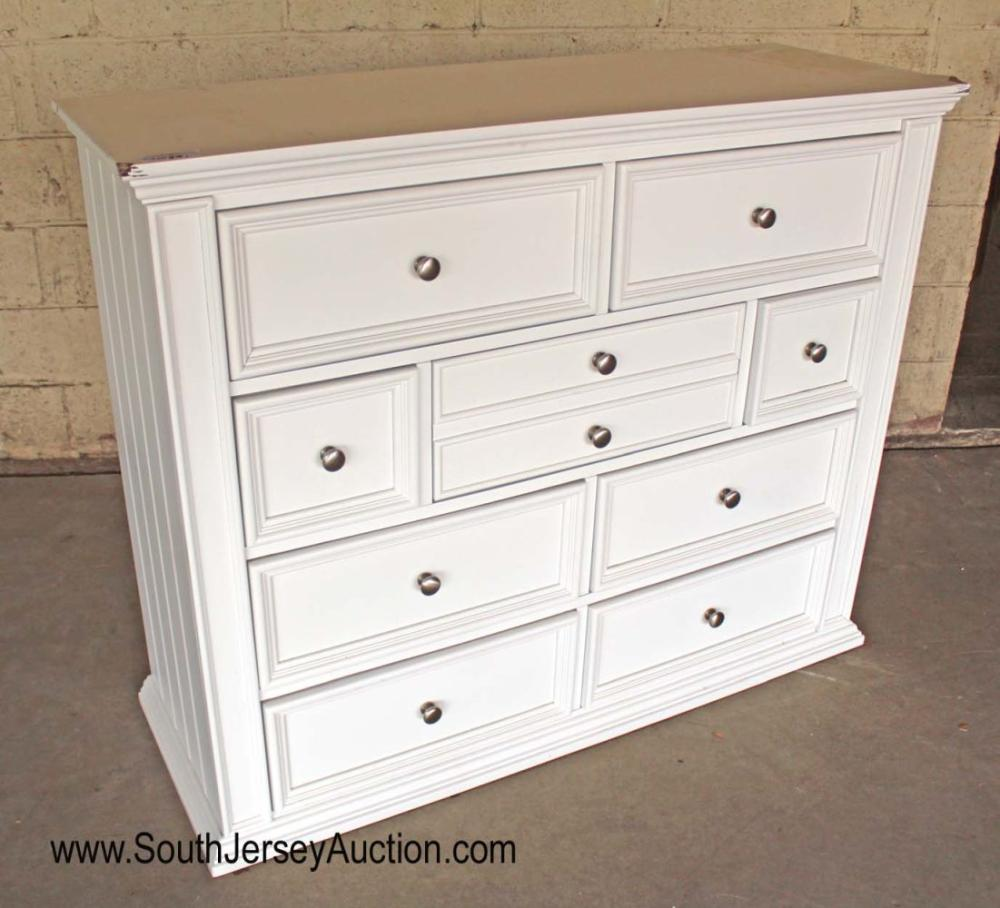 9 Drawer White Painted Chest