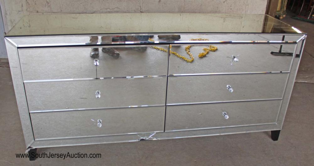 Hollywood Mirrored 6 Drawer Chest - As Is