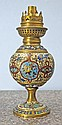 French Cloisonne Lamp. (no globe), 7,5