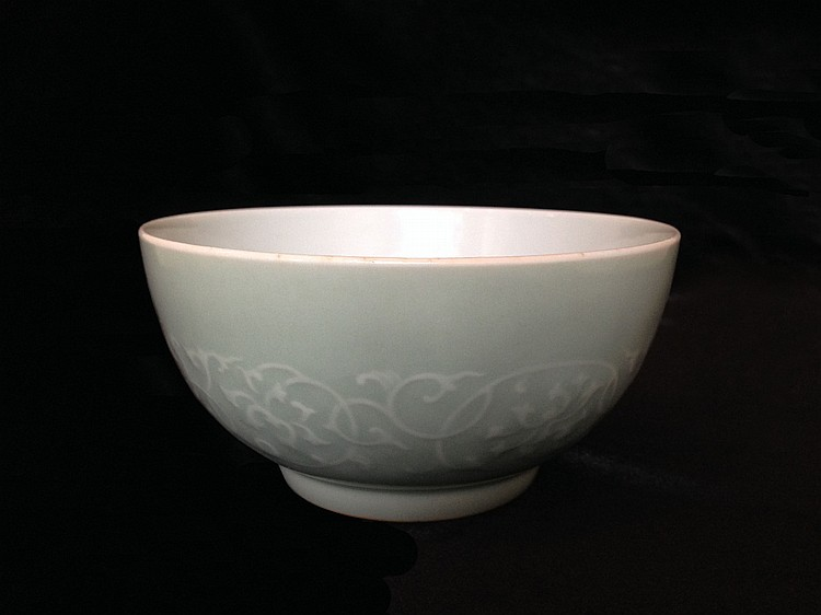 A Fine and Rare Celadon-Glazed Bowl