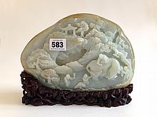A Chinese Large Pale Celadon Jade Boulder 18/19th Century
